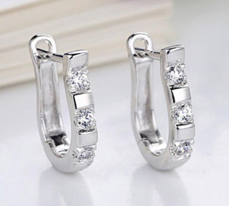 Novelty Style U Shaped Silver Plated Women's Hoop Earrings Jewelry Women 2015 One Pair - Tradestar LLC store