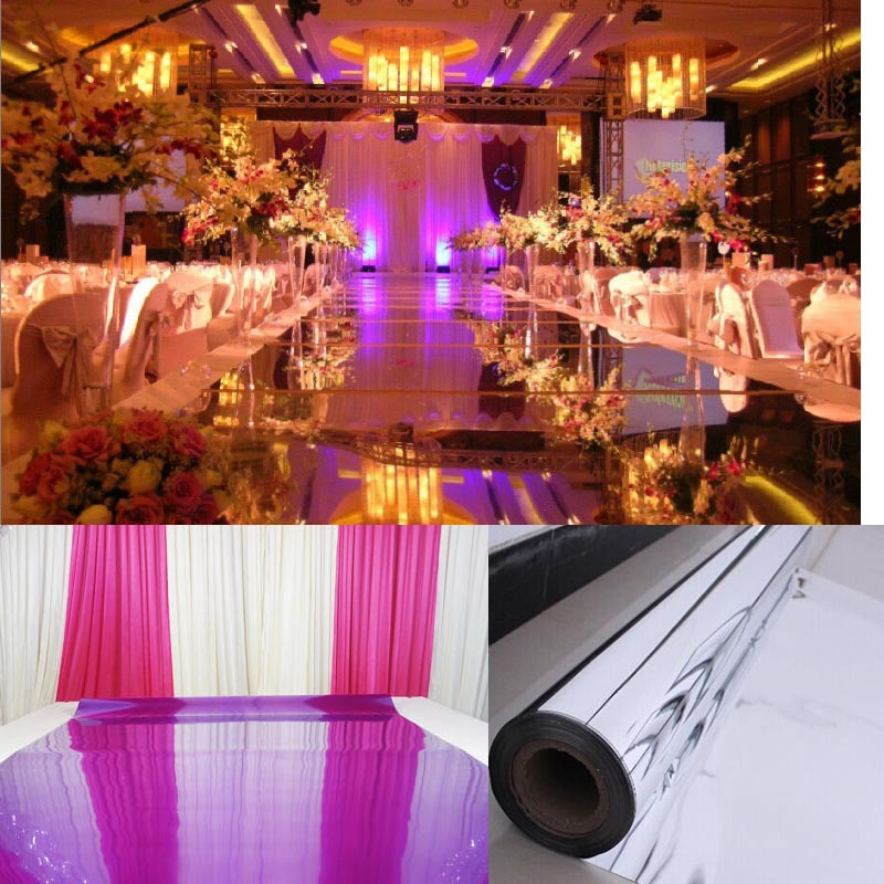Wedding Mirror Carpet T Stage Carpet Runner Events Party Banquet Silver Purple 10M 0 13mm thickness