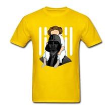 Nomor Satu Ayah Darth Vader Star Wars T Shirt 3XL Pendek lengan Kustom Tshirt Pria Hipster Pasangan Cotton Crewneck Mens T Shirts(China)
