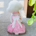 Super Cutee fashion Pet Dog Clothes Bow Flower Tutu Wedding Party Puppy Princess Dress Apparel Sizes