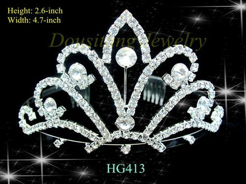Free Shipping Rhinestone Crystal Tiaras and Crowns for Wedding/Bridal/Pageant / Hair Jewelry Factory Wholesale HG413