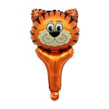 Beberapa Gaya Hewan Balon Aluminium Foil Balon TIGER/Singa/Zebra/Jerapah Balon Dekorasi Pesta Ulang Tahun Bayi shower Mainan(China)