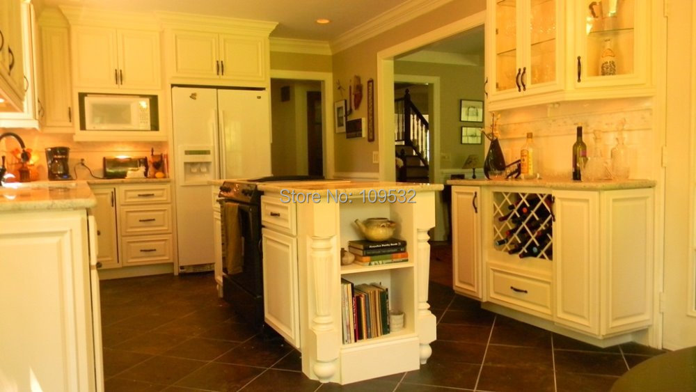 American Classic Style Natural Solid Wood Kitchen Cabinets