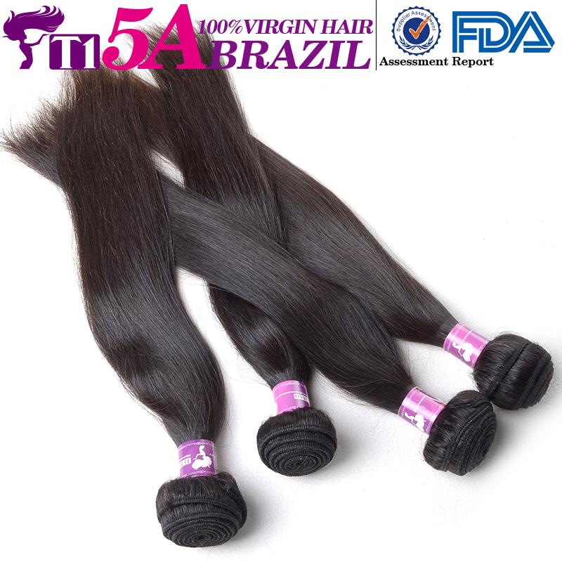 T1 5A Wholesale Brazilian Virgin Hair Straight Natural Cheap Human Hair Bundles Brazilian Hair Extension Kinky Straight Hair(China (Mainland))