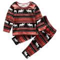 Xmas Toddler Baby Boys Girls Reindeer Homewear Nightwear Sleepwear Pajamas Set