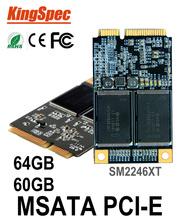 Kingspec Mini PCIE mSATA ssd sata3 III 6GB/S 64GB SSD 60GB Hard Drive Solid State Drive Disk > ssd 32 32gb msata dropshipping