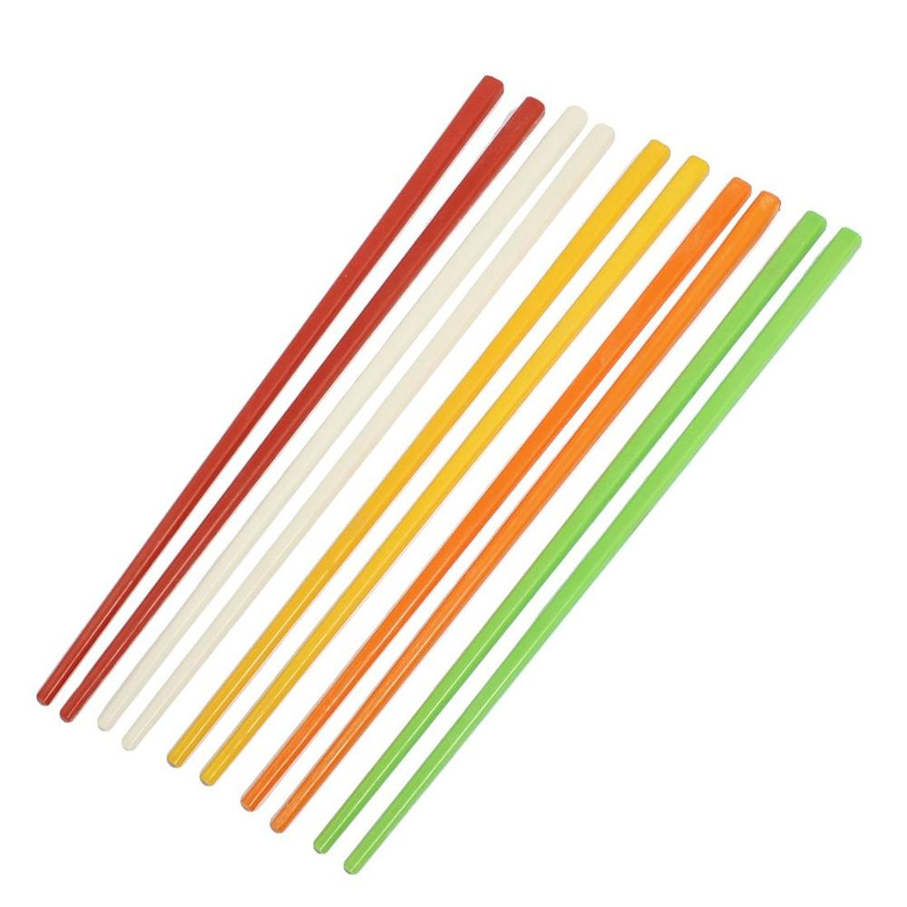 """5 Pairs Assorted Color Plastic Chinese Chopsticks 8.7"""" Long(China (Mainland))"""
