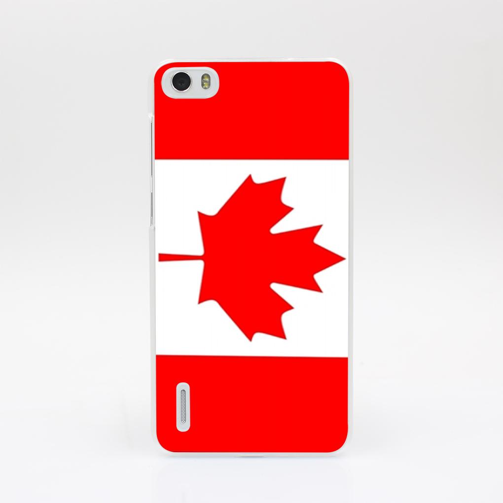 15911-OIE Unique Retro Canada National Flag Hard Case Cover for Huawei P6 P7 P8 Lite P9 Lite Plus & Honor 6 7 4C 4X G7(China (Mainland))