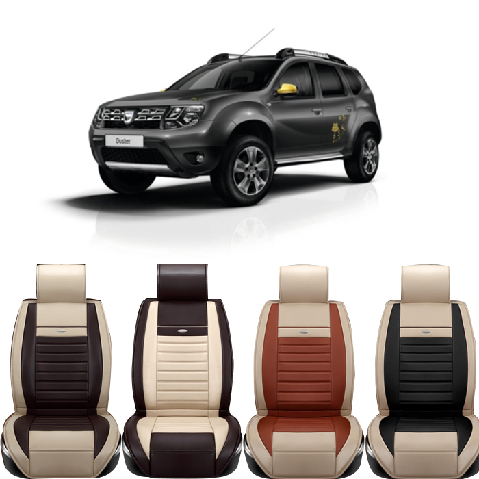 high quality special leather car seat covers for dacia sandero duster logan black white brown. Black Bedroom Furniture Sets. Home Design Ideas