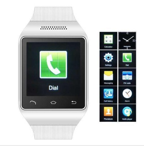 """Smart Watch Phone 1.54"""" Capacities Touch Screen Bluetooth GSM GPS Smart Watch Camera MP3 FM Radio with Sim Card Slot(China (Mainland))"""