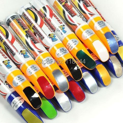 Hot 1Pcs Pro Mending Car Remover Scratch Repair Paint Pen Clear 39colors For Choices Hyundai VW Mazda Toyota Free Shipping(China (Mainland))