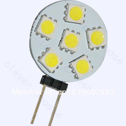 2pcs g4 6 smd led pure white marine light bulb lamp 12. Black Bedroom Furniture Sets. Home Design Ideas