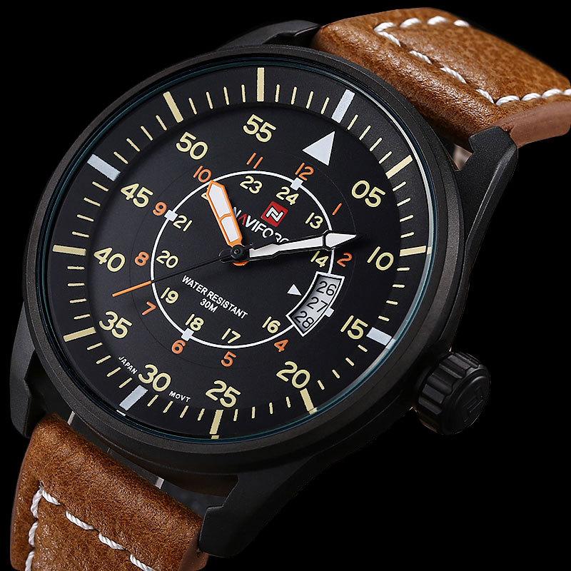 Luxury Brand Fashion Men Sports Watches Mens Quartz Watch Man Leather Strap Military Army Waterproof Wristwatch<br><br>Aliexpress