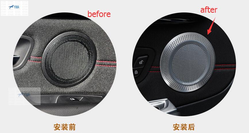 For BMW 2-Series Active Tourer 2015 218i 228i Metal Side Door Tweeter Audio Speaker Frame Cover Trim Modling Garnish<br><br>Aliexpress