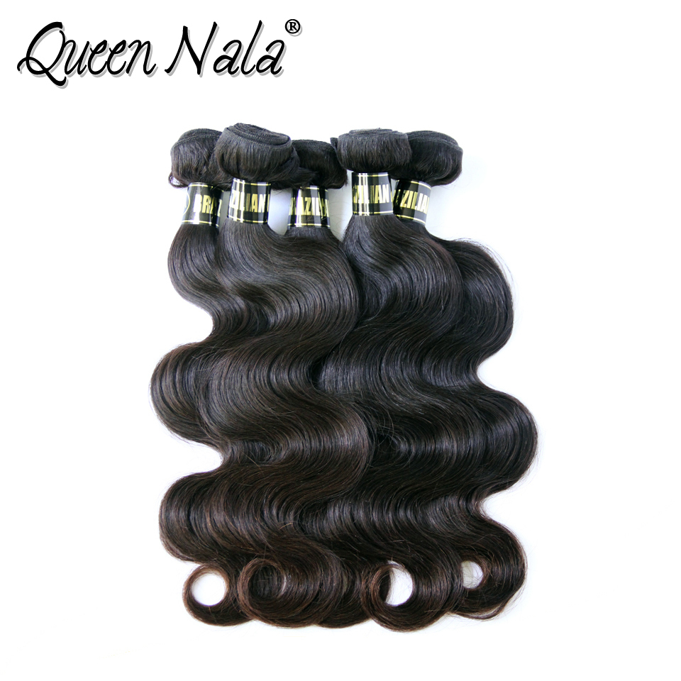 GaGa Queen Hair Products Brazilian Virgin Hair body wave Virgin Hair Human Hair Weaves 3pcs Lot Free Shipping