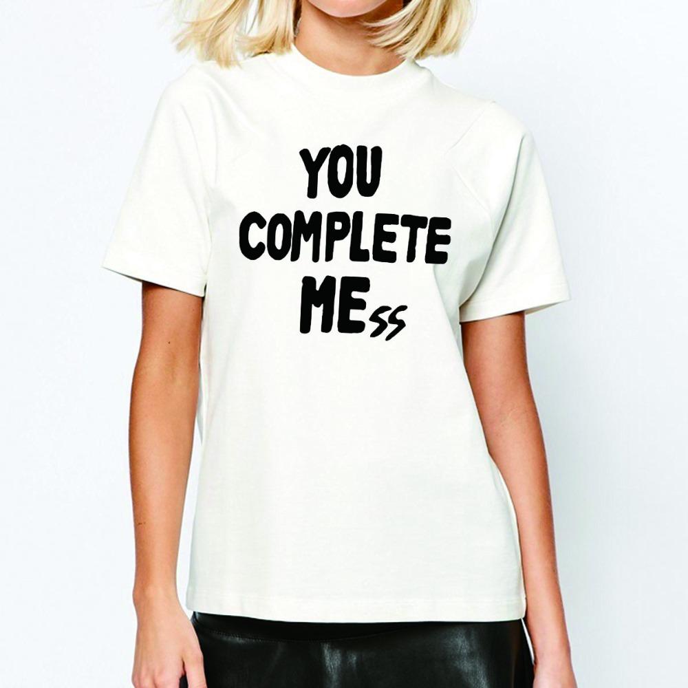 You Complete Mess Me T Shirts Women Five 5 Seconds Of Summer Woman shirt Fashion Women tshirt Tops O Neck Euro Size(China (Mainland))
