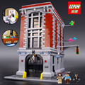 LEPIN 16001 Ghostbusters Firehouse Headquarters brinquedos Building Block 4705Pcs Bricks Compatible With Legoed 75827