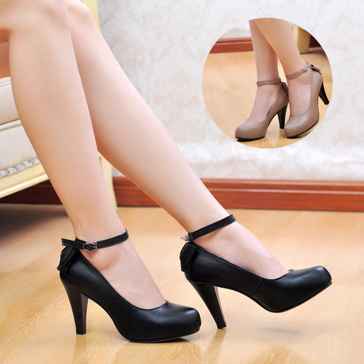 Spring autumn womens genuine leather shoes invisible high-heels platform female strap work shoes<br><br>Aliexpress