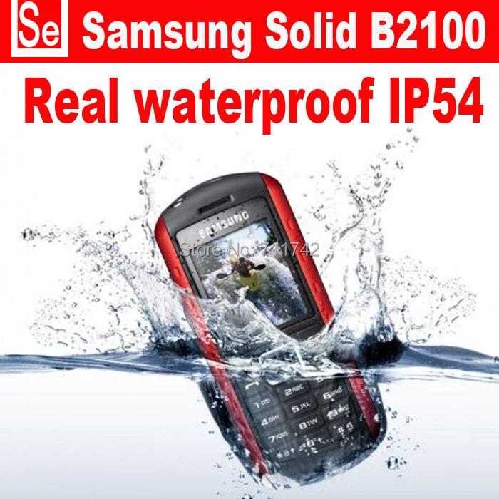 Refurbished unlocked Samsung B2100 waterproof IP54 B2100 Xplorer cell phones unlocked russian language only english keyboard(China (Mainland))