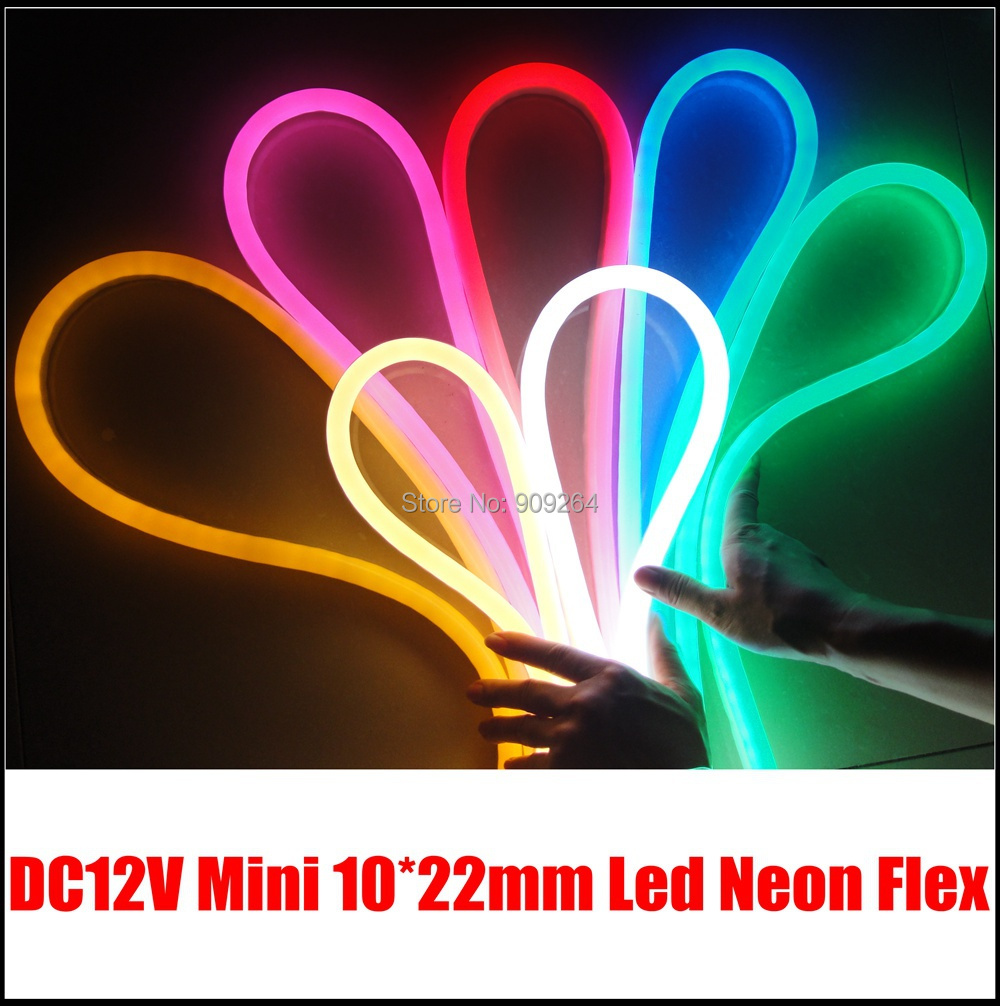 10 meters/Lot Mini 12V led neon for lighting solution DIY,shopping mall lighting decoration neon.(China (Mainland))