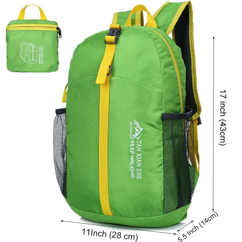 Waterproof Outdoor Folding Hiking Climbing Backpacks Sport Bicycle Running Casual Daypacks Foldable Back packs Women Men Bag 20(China (Mainland))