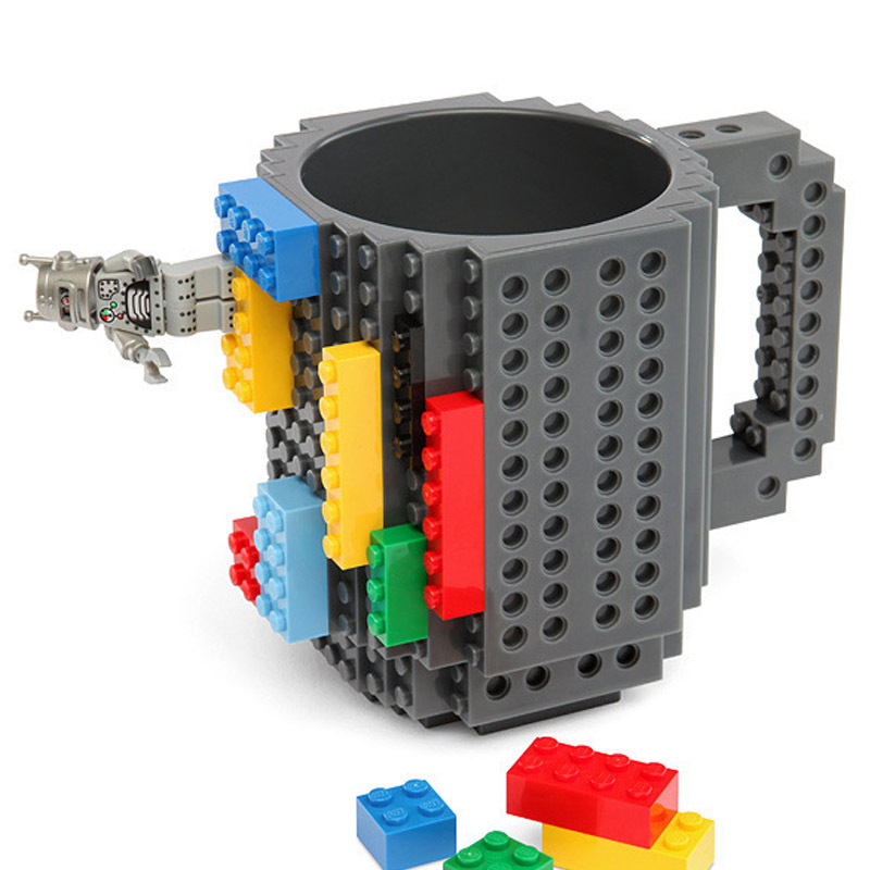 1PCS 350ml Building Blocks Mug Funny Cool Coffee Beer Cup Travel Items Gear Stuff Supplies Fun Cups products Gift For Children(China (Mainland))