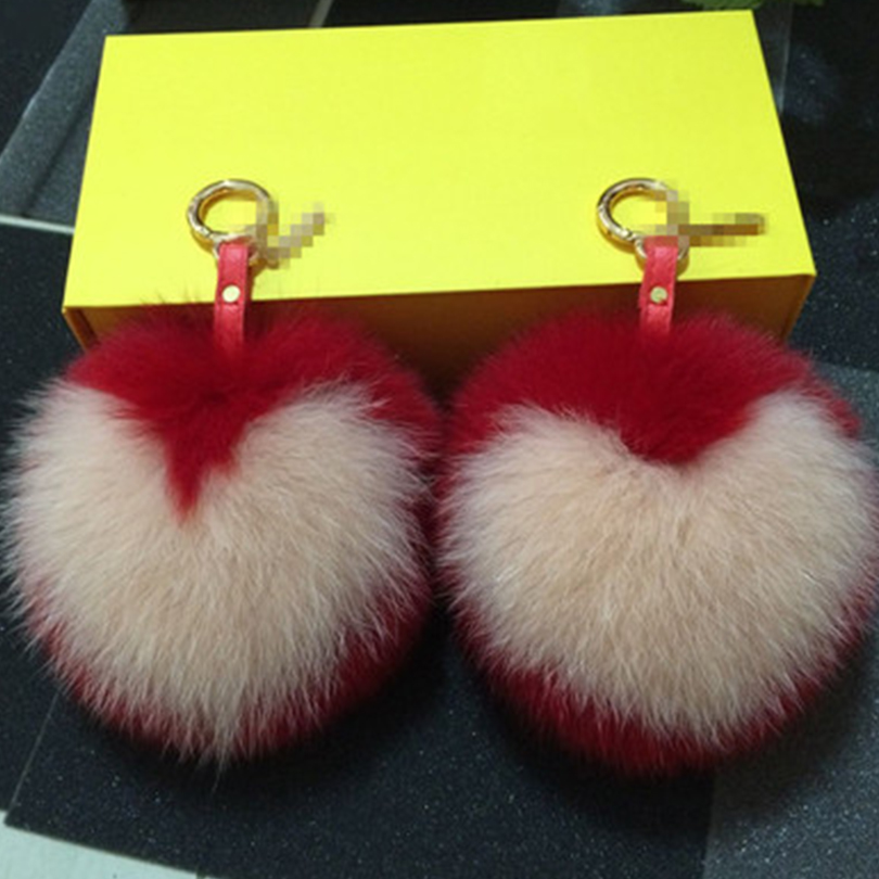 Super Genuine Fox Fur Alphabet Bag Pendant Car Accessories Key Ring 15 Centimeter Support For Tailor-Made Real Fur Key Ring(China (Mainland))