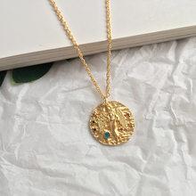Artilady 12 Constelação Colar Colar Do Zodíaco Pingente de colar de Ouro para As Mulheres Jóias Partido Presente transporte da gota(China)