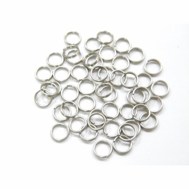 6mm 7mm 8mm 50 pcs Nickel Plated Split Rings for Blank Lures Crankbait Hard Bait 50 For Each Pack Bass Walleye Fishing UPR