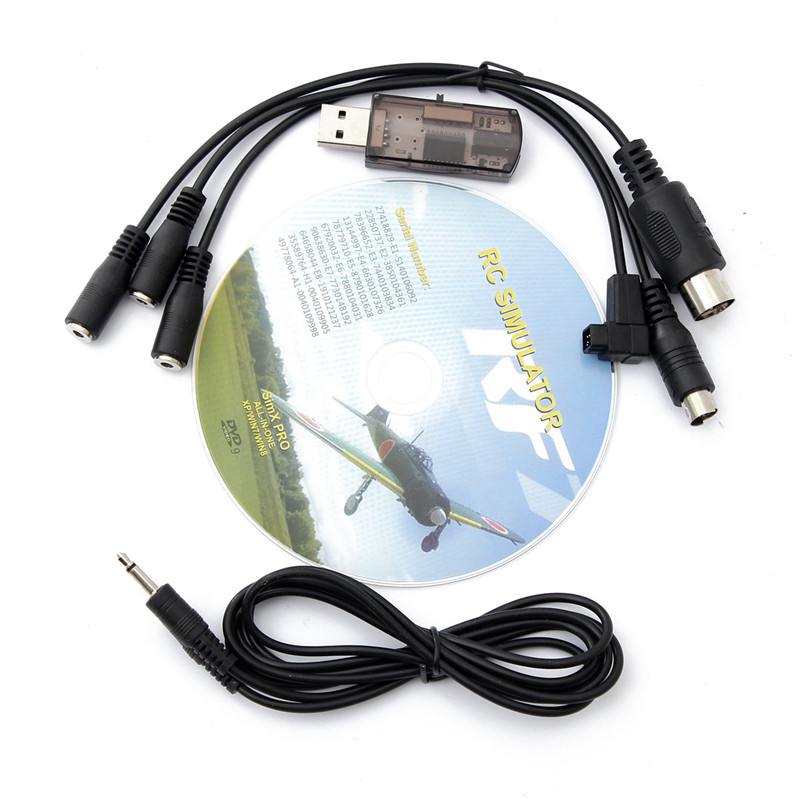New Arrival High Quality 22 in 1 RC USB Flight Simulator Cable for Realflight G7 / G6 G5.5 G5(China (Mainland))