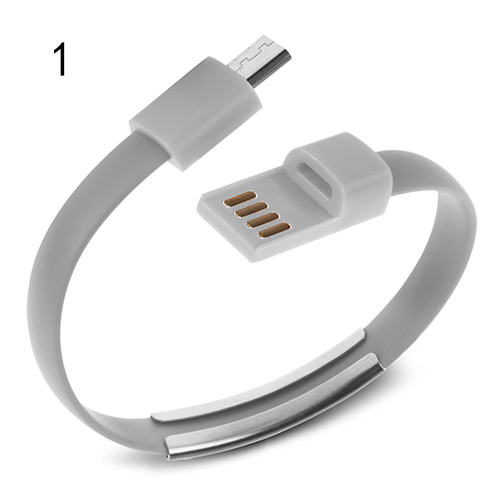 Fashion Bracelet USB Cable Charger Data Sync Cord Wristband for Samsung HTC LG Sony 4SYX(China (Mainland))