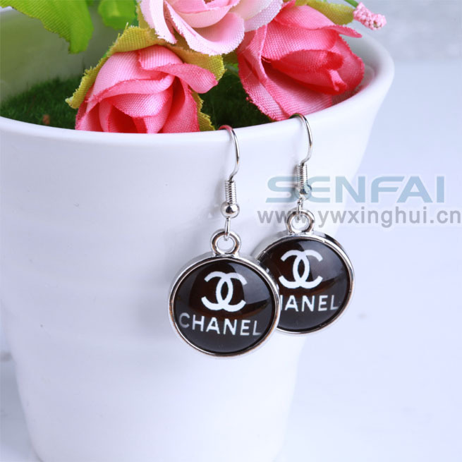 2014 New Design Women Earrings Fashion Drop Earrings Black Blue White Brincos Sale on Allied Express(China (Mainland))