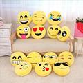 33 33cm Soft Emoji Pillow Smiley Emoticon Yellow Cushion Pillow Stuffed Plush Toy Doll Decorative Cotton
