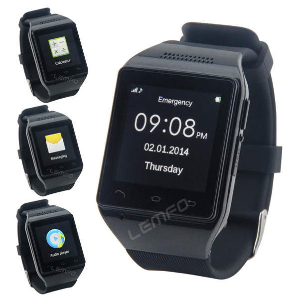 """S18 Smart Watch Phone 1.54"""" Capacitive Touch Screen Bluetooth GSM SmartWatch Mobile Phone MP3 FM Radio 2014 Fashion 2014 New(China (Mainland))"""