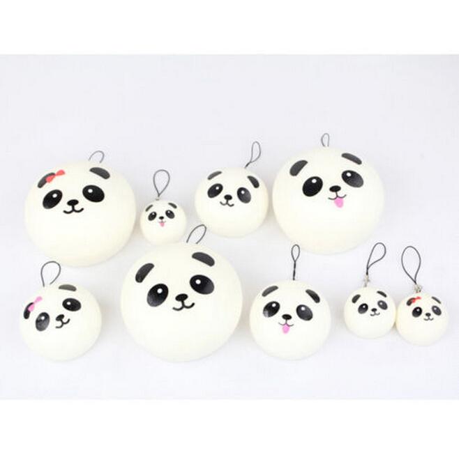 Panda Bun Squishy Mini : 10pcs/lot 4.5cm Mini Cartoon Panda Bun Squishy Cell Phone Kawaii Panda Buns Key Bag Strap ...