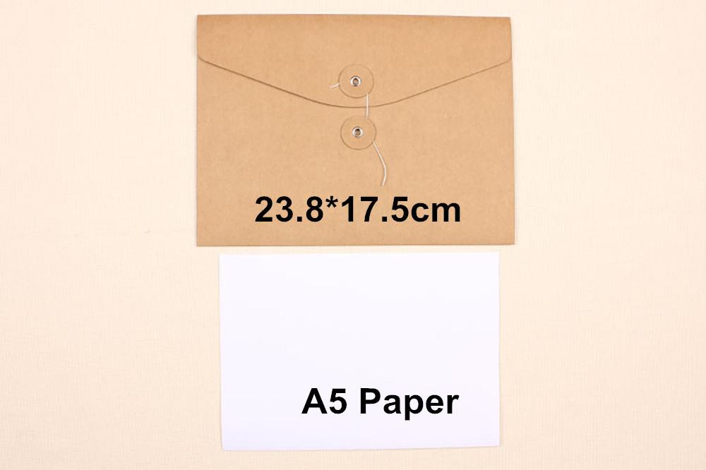 High Quality 23.8*17.5cm A5 Paper File Bag Paper Classification Case File Folder Document Packaging Bag<br><br>Aliexpress