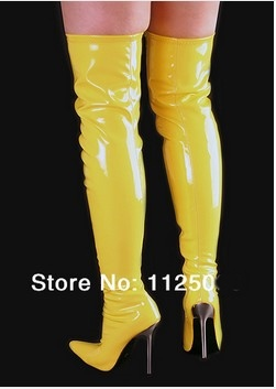 Thigh High Yellow Boots - Boot 2017