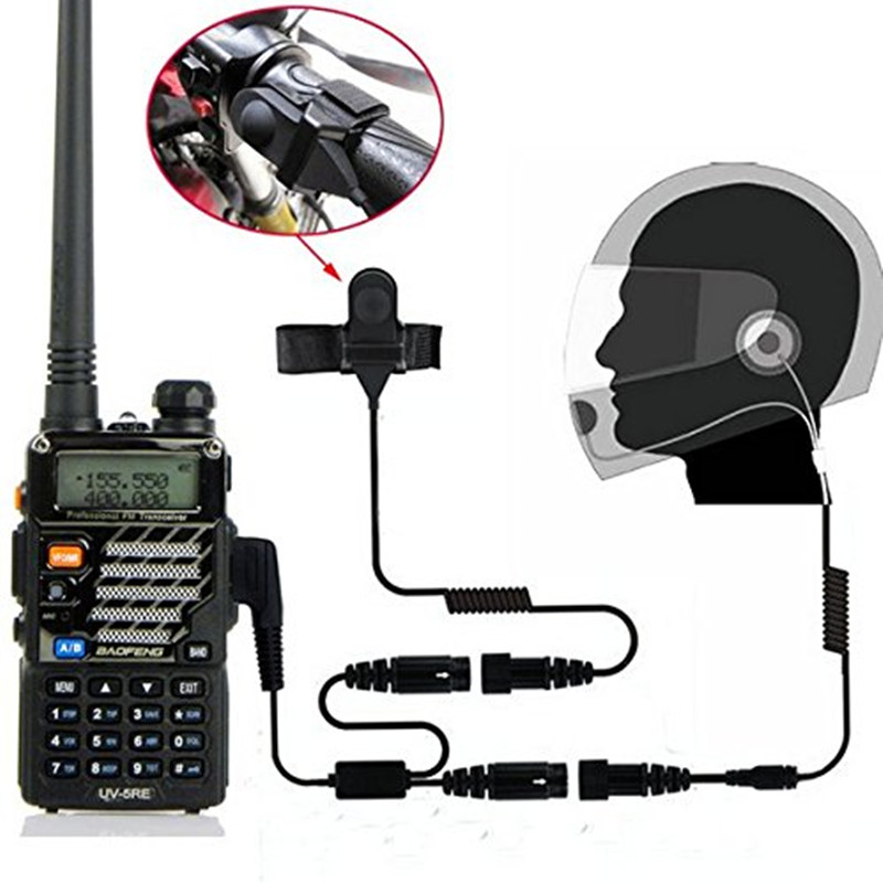 MOTO Motorcyle Helmet Headset Earpiece Bicycle MIC microphone for Baofeng Wouxun TYT Kenwood CB Radio Walkie Talike UV5R GT-3(China (Mainland))