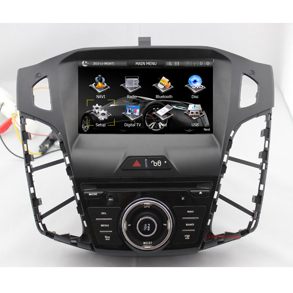 """8"""" Car DVD player for Ford Focus 2012 with GPS, BT, Radio, RDS,TV,Canbus,SWC,Russian Menu+Free 8G Map & Analog TV Antenna(China (Mainland))"""