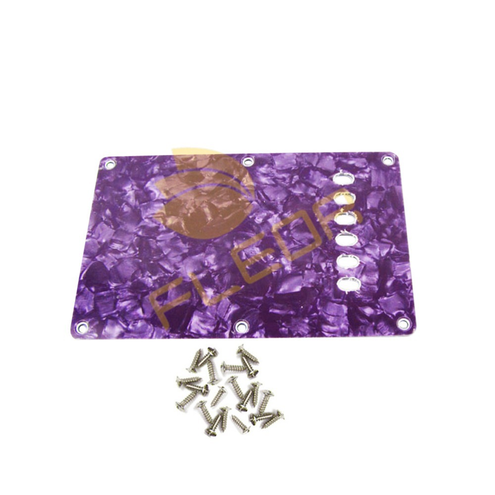 3Ply Purple Pearl Cavity Cover Back Plate Fits FD ST Style Electric Guitar Pickguard(China (Mainland))