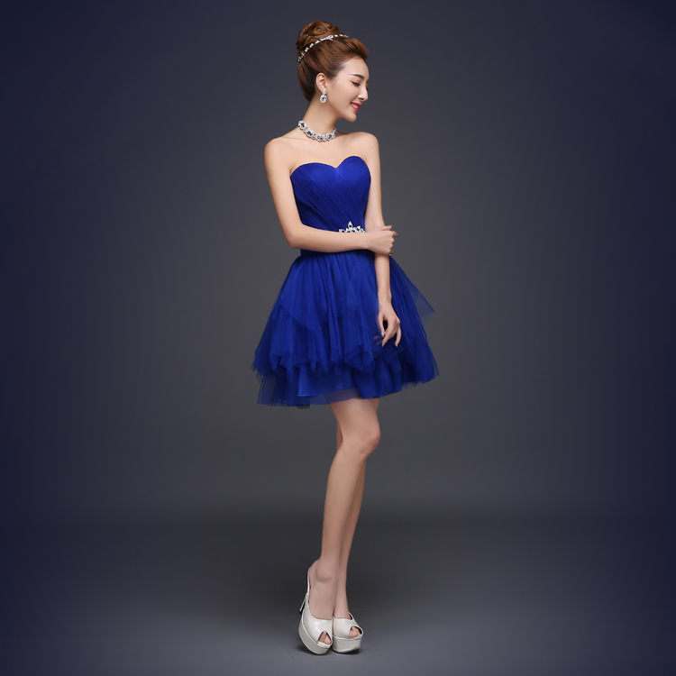 Buy cheap short 2016 royal blue for Cheap plus size wedding dresses under 50