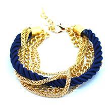 Fashion  Weave Multilayer Bracelet Vintage Golden Rope Bangle Bracelet Newest Summer Style Chain Bracelet for Men Women(China (Mainland))