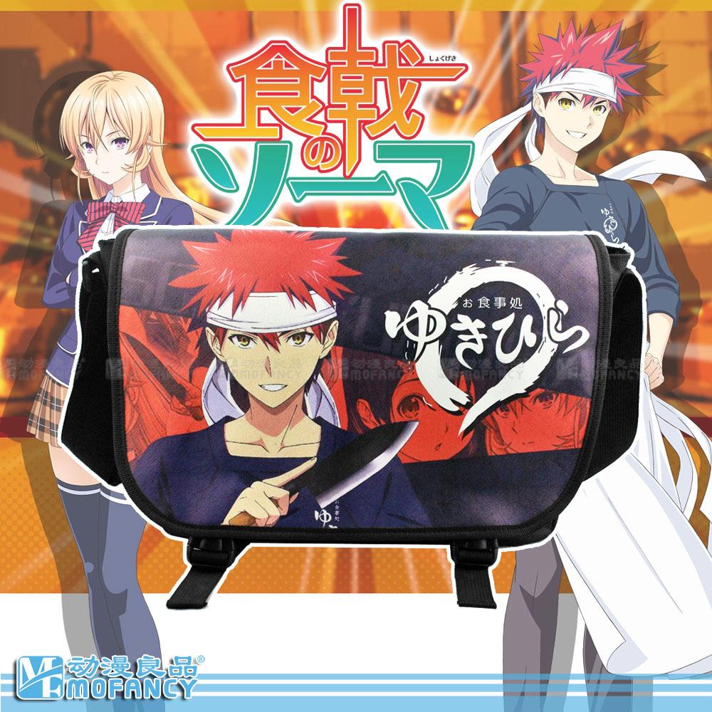 Unisex Hot selling High quality Anime Japan Style Shokugeki no Soma Theme leisure fashion boy gift one shoulder messenger bag(China (Mainland))