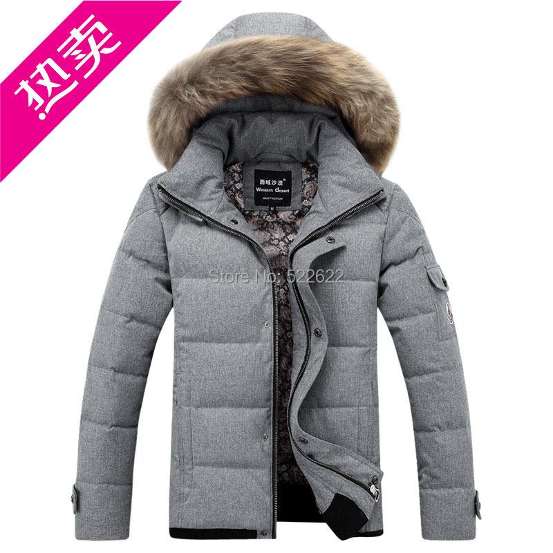 2014 slim hooded winter jacket men thickening short design casual outerwear coat & Parkas - 5 star store