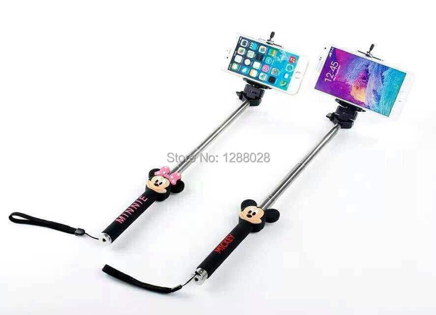 mickey mobile phone selfie stick tripod handheld extendable handheld monopod. Black Bedroom Furniture Sets. Home Design Ideas