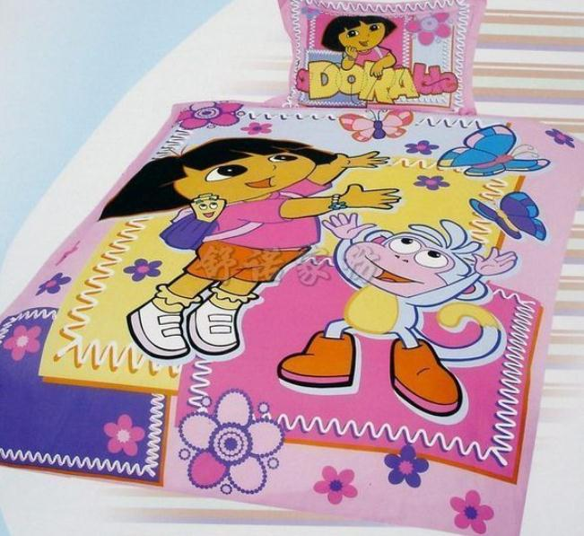 dora the explorer kids girls bedding set quilt covers single full twin