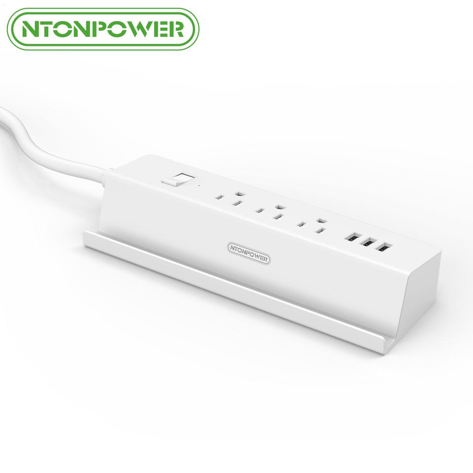 NTONPOWER MSP USB Power Extension Socket US Plug 15A Overload Switch Energy Saving 3 AC 3 USB Charging Port with Phone Holder(China (Mainland))