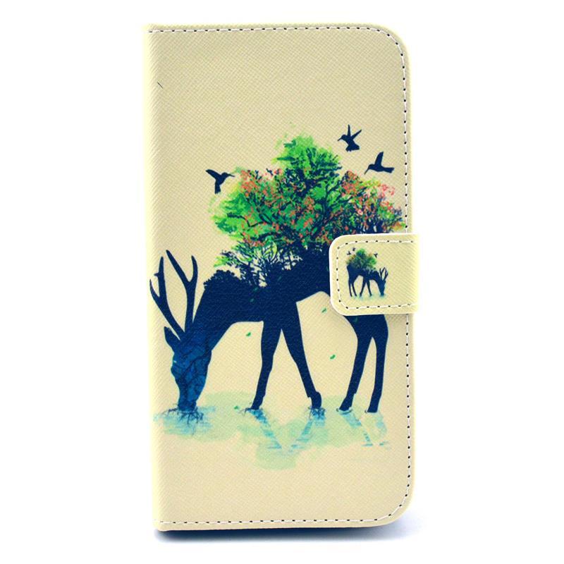30 pcs/lot Retro Landscape Wallet Leather Case Card Slot Stand Samsung Galaxy S5 i9600