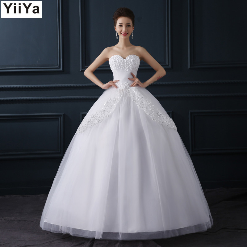 Wedding Dresses  Free Shipping : Free shipping fashion white wedding dress cheap gown romantic
