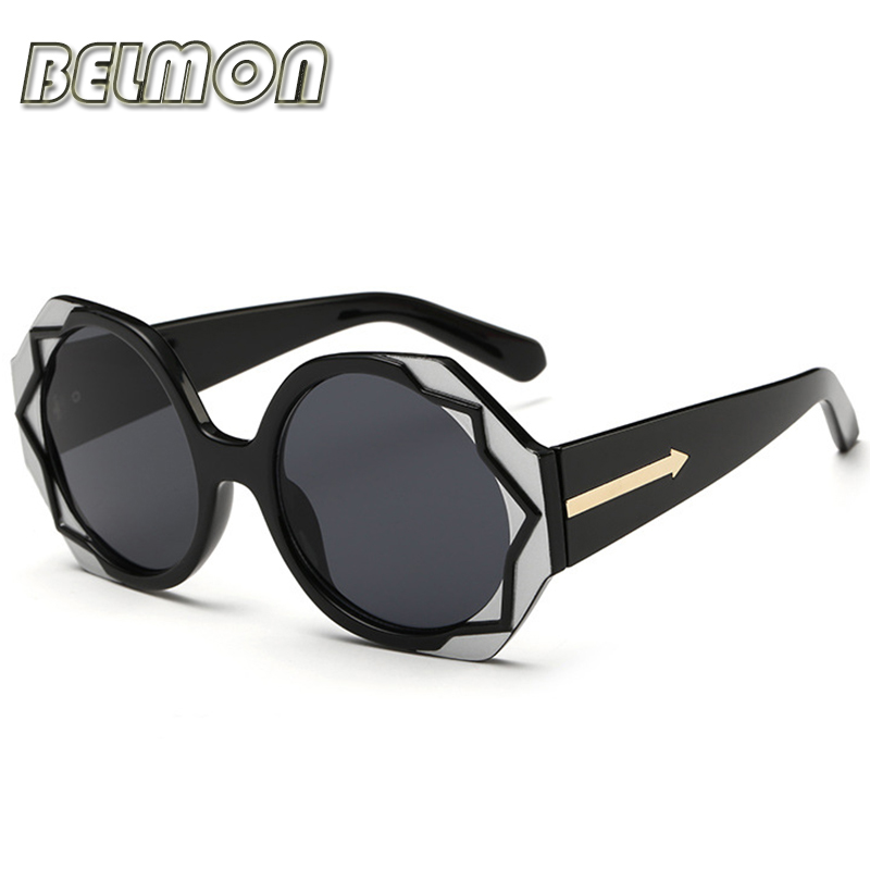 2016 Fashion Round Sunglasses Women Brand Designer Sun Glasses For Ladies Vintage Eyewear UV400 Mirror Lens Female Oculos RS020(China (Mainland))